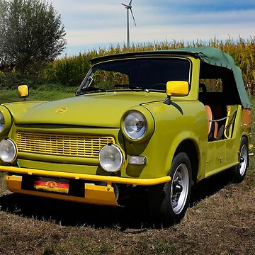 gdr classic car, trabant cabriolet by hottehue
