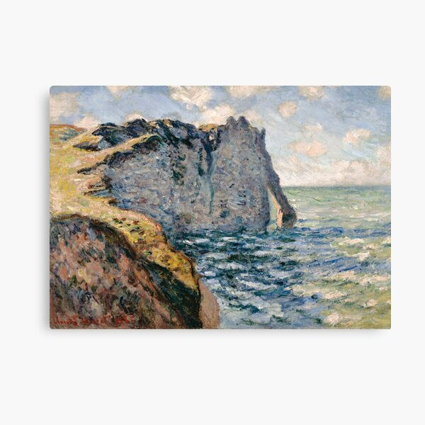The Cliff of Aval Etretat by Claude Monet. Canvas Print