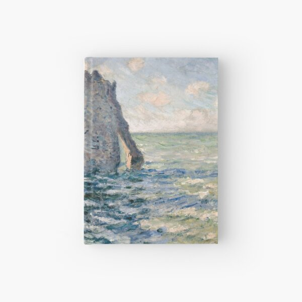 The Cliff of Aval Etretat by Claude Monet. Hardcover Journal