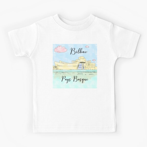 Bilbao Pays Basque by Alice Monber Kids T-Shirt