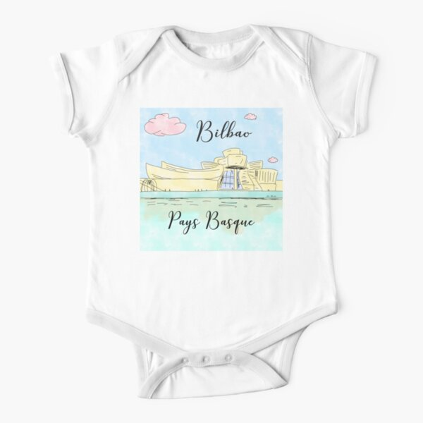 Bilbao Pays Basque by Alice Monber Short Sleeve Baby One-Piece