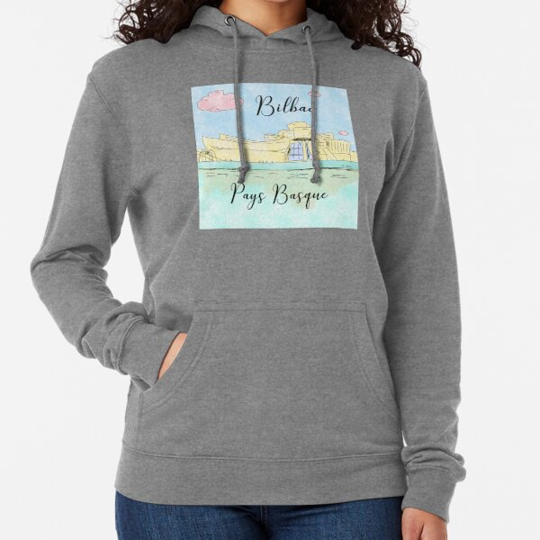 Bilbao Pays Basque by Alice Monber Lightweight Hoodie