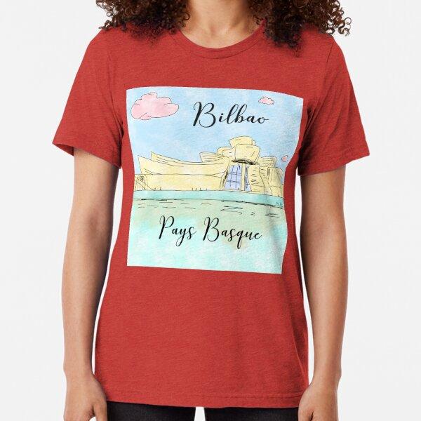 Bilbao Pays Basque by Alice Monber Tri-blend T-Shirt