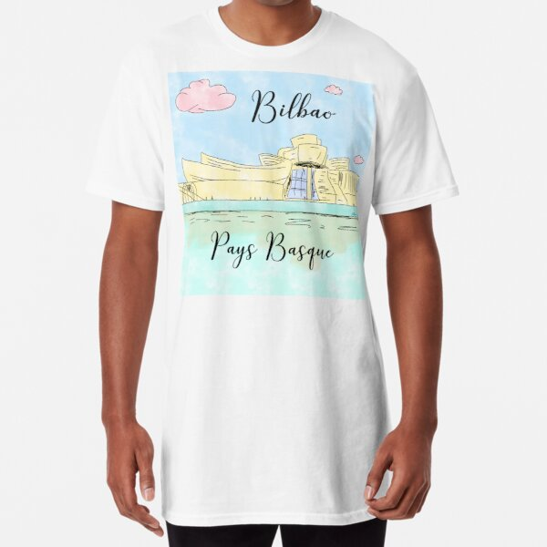 Bilbao Pays Basque by Alice Monber Long T-Shirt