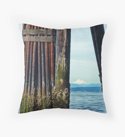 Mukilteo Pier Throw Pillow