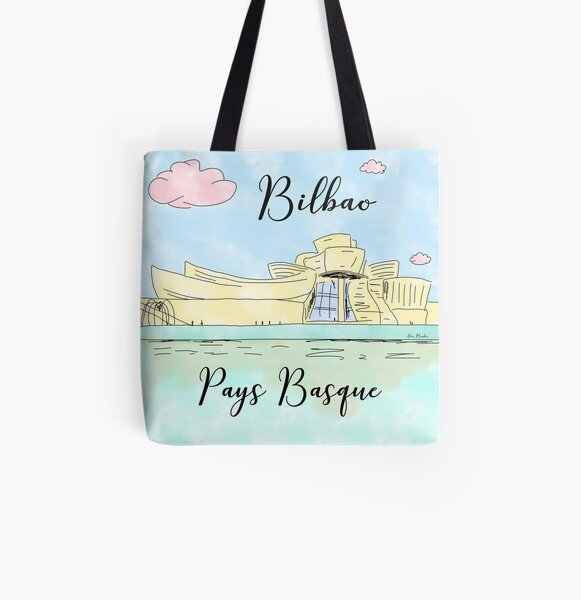 Bilbao Pays Basque by Alice Monber All Over Print Tote Bag