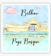 Pegatina Bilbao Pays Basque by Alice Monber