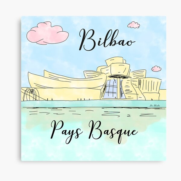 Bilbao Pays Basque by Alice Monber Canvas Print