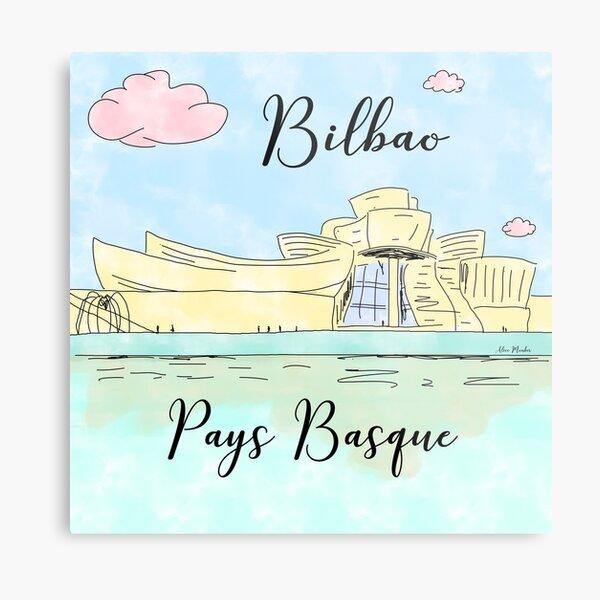 Bilbao Pays Basque by Alice Monber Metal Print