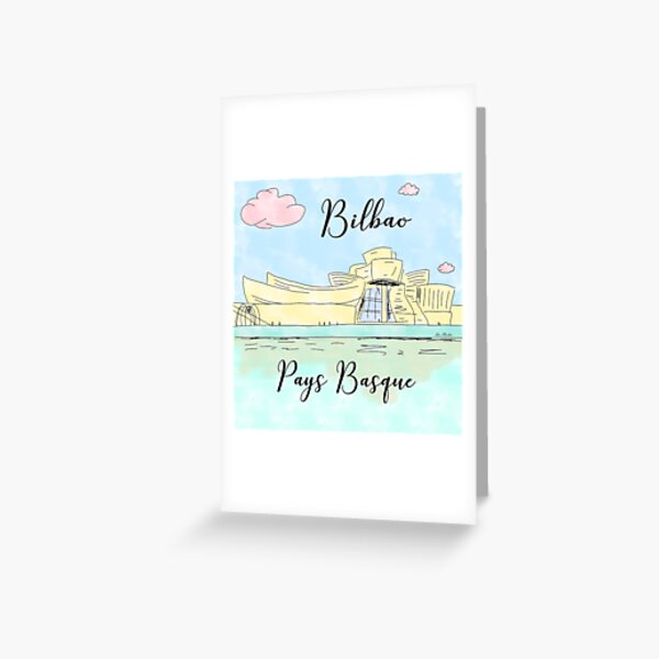 Bilbao Pays Basque by Alice Monber Greeting Card