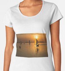 Sailing the Sunset Women's Premium T-Shirt
