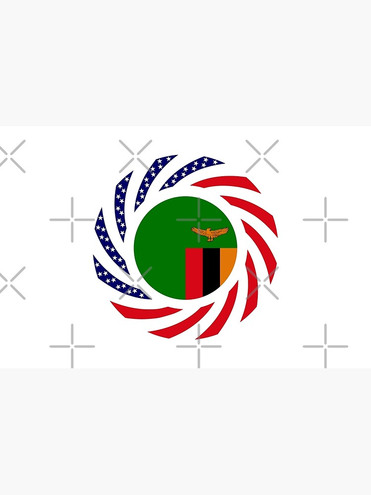 Zambian American Multinational Patriot Flag Series by carbonfibreme