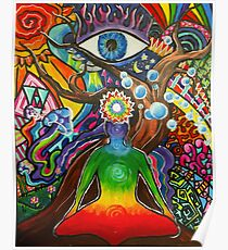 Balance Psychadelic Baum Poster