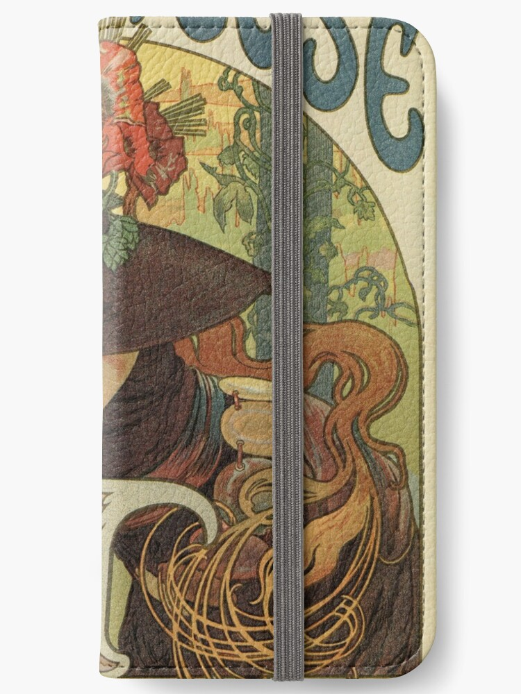 Alfons Mucha Art Nouveau Beer Ad Iphone Wallet By Aapshop
