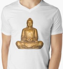 A Golden Buddha Men's V-Neck T-Shirt