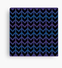 Heart  Arrow Chevron Pattern Canvas Print