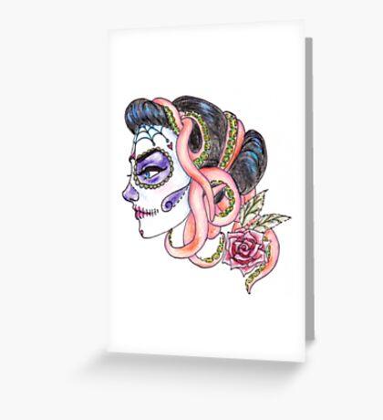 senorita de los muertos Greeting Card