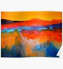Landscape Abstract...The Niagara Escarpment Poster