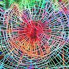 Smashed Window = Neon Effect by Glen Allen
