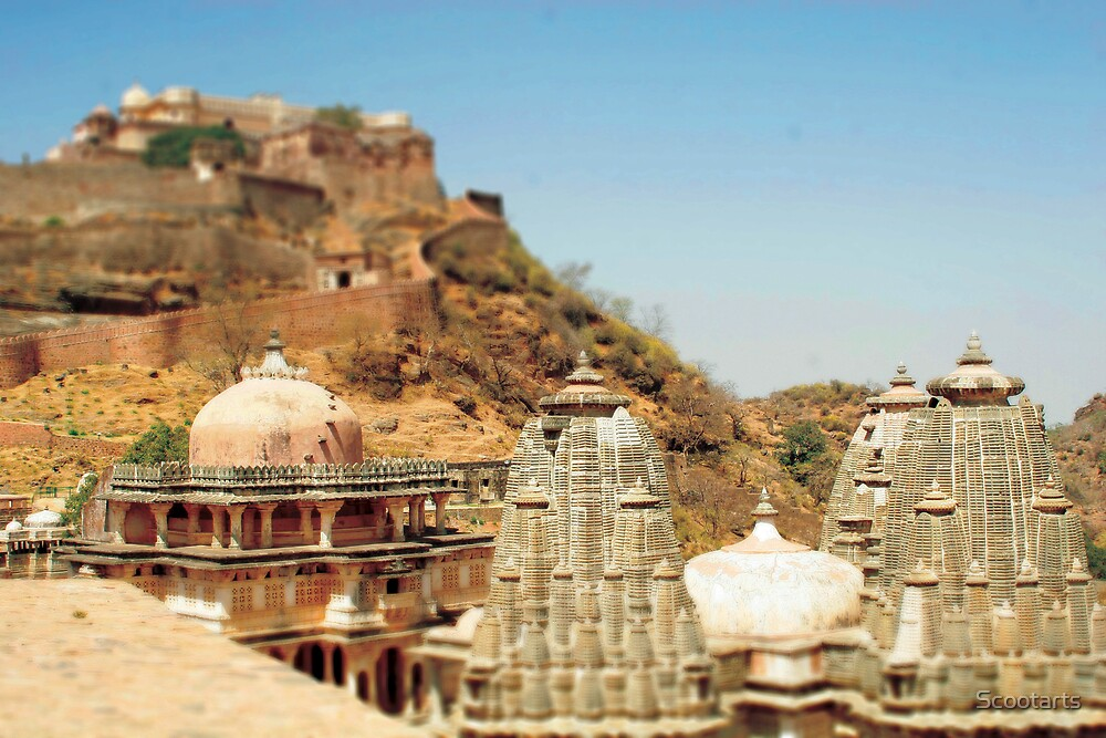 Miniature Effect of Kumbalgarh Fort near Udaipur, India Part 2 by Scootarts