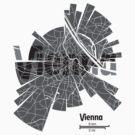 Wien Karte von UrbanizedShirts