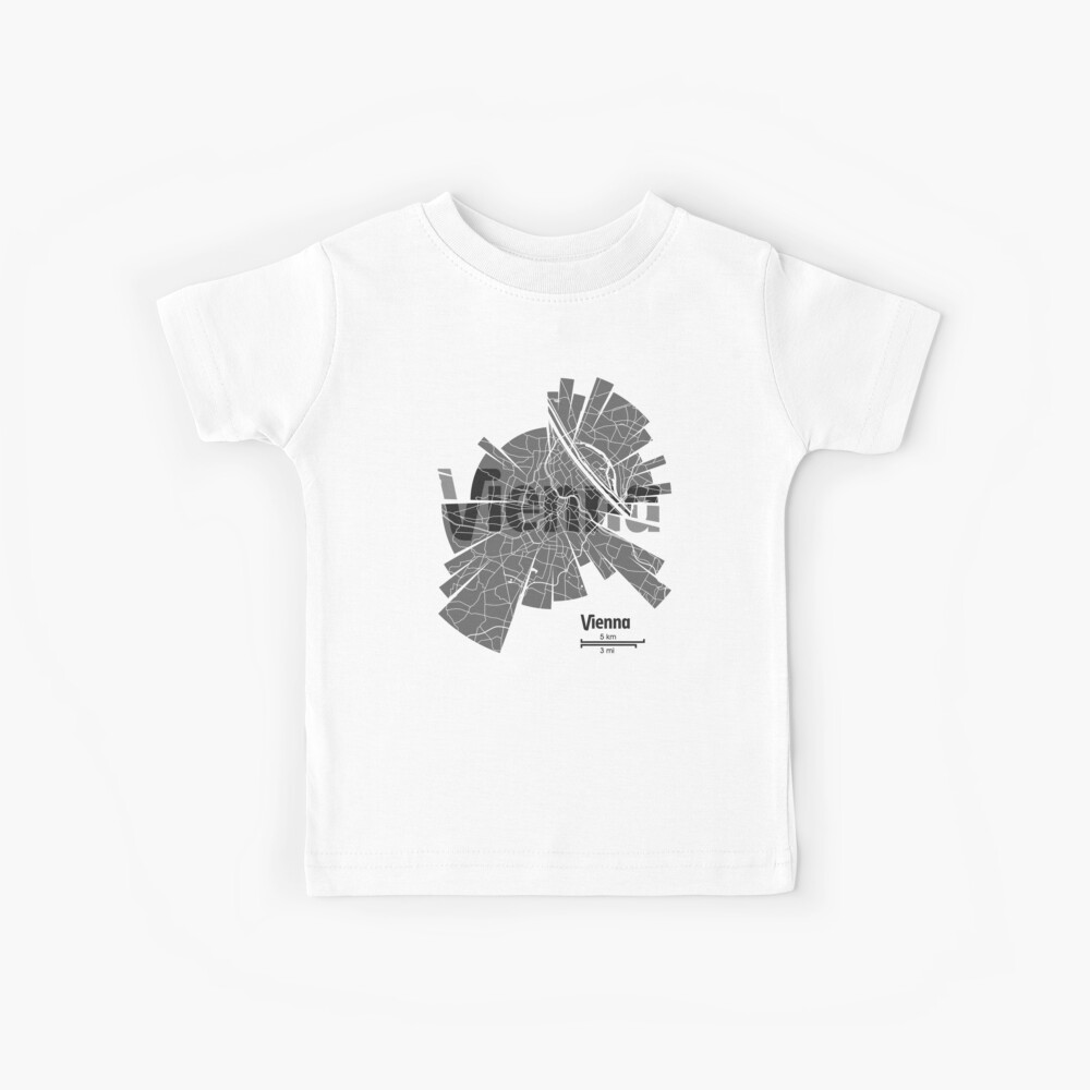 Vienna map Kids T-Shirt
