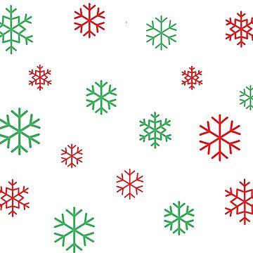 Red and Green Snowflakes by Koshee15
