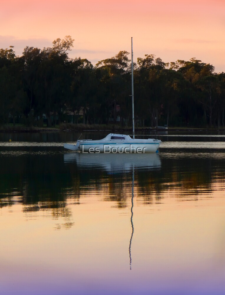 Reflecting on an Autumn Morning. by Les Boucher