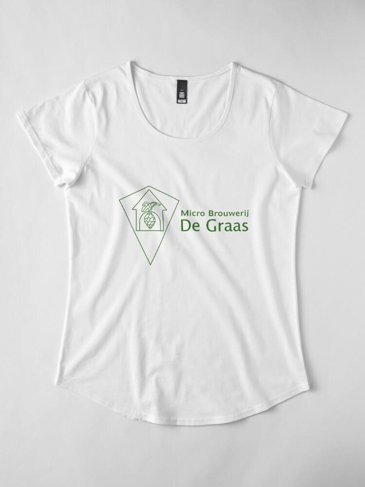 Alternate view of Micro Brouwerij De Graas Premium Scoop T-Shirt