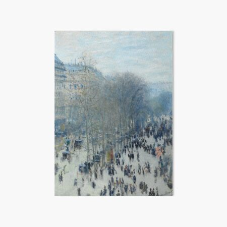 Boulevard des Capucines by Claude Monet Art Board Print