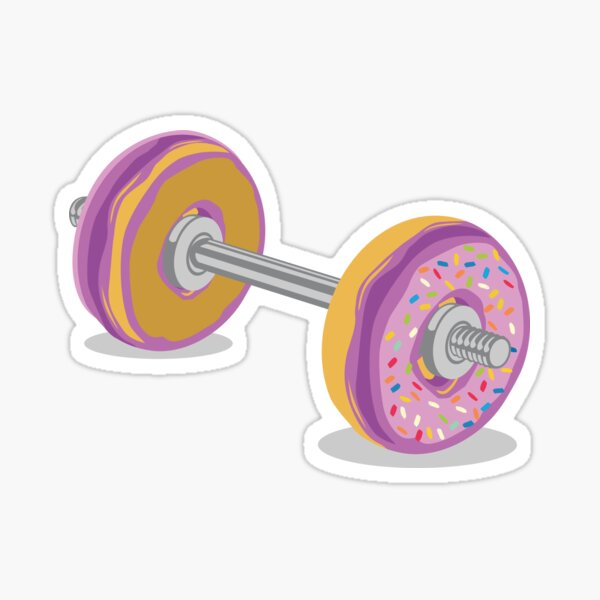 Donut Barbell Sticker