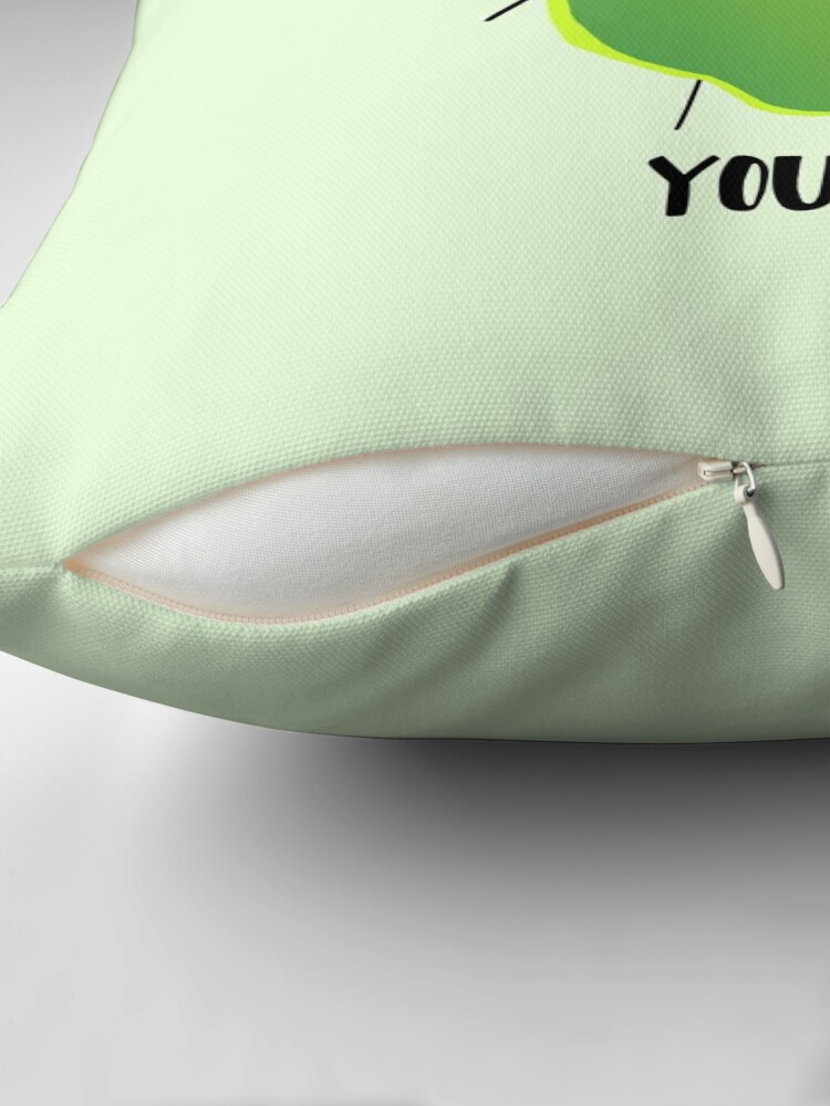 Alternate view of LIME yours Throw Pillow