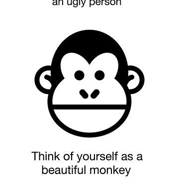monkey funny shirt humor novelty animal  by artbyjane