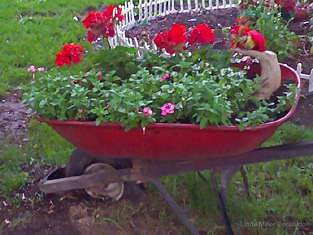 Wheel My Garden by Linda Miller Gesualdo
