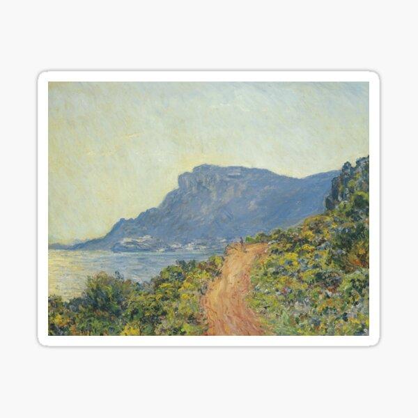 La Corniche near Monaco by Claude Monet Sticker