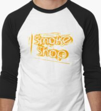 Smoke Shop Cigar Smoking Vaping Men's Baseball ¾ T-Shirt