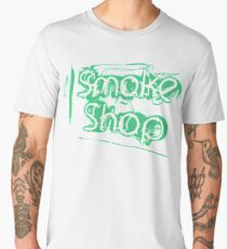 Smoke Shop Cigar Smoking Vaping Men's Premium T-Shirt