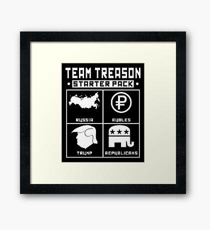 Team Treason Starter Pack Framed Print
