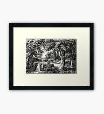My cottage home - 1866 Framed Print