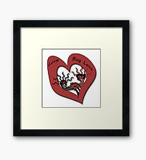 Love Bug Love Framed Print
