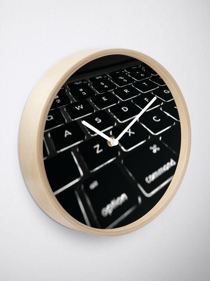 Alternate view of COMPUTER DISPLAY Pop Art Clock
