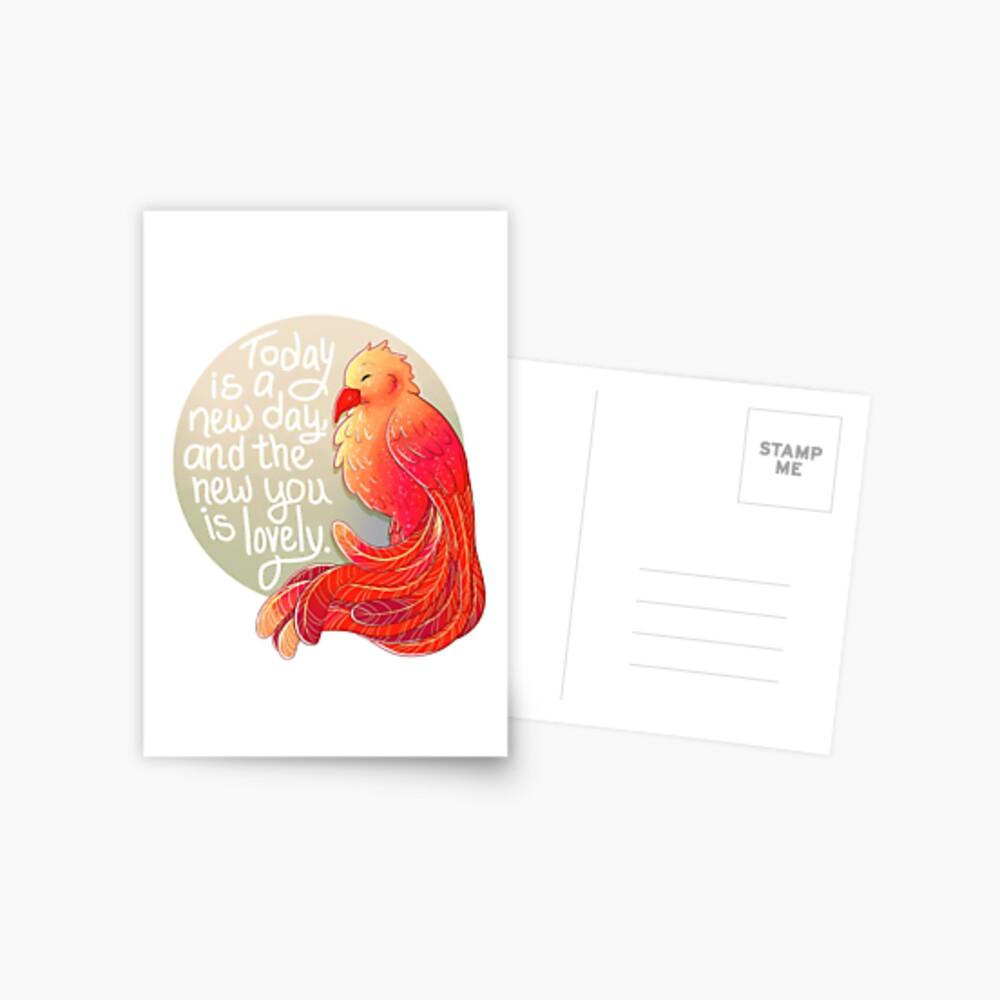 """""""Heute ist ein neuer Tag, und das Neue ist schön"""" Phoenix Postkarte"""