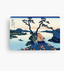 A View of Mount Fuji Across Lake Suwa (Lake Suwa in Shinano Province) | Japan Canvas Print