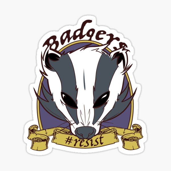 Badgers - Resist Sticker