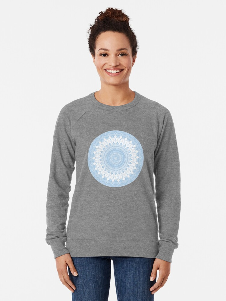 Alternate view of Baby Blue Boho Mandala Lightweight Sweatshirt