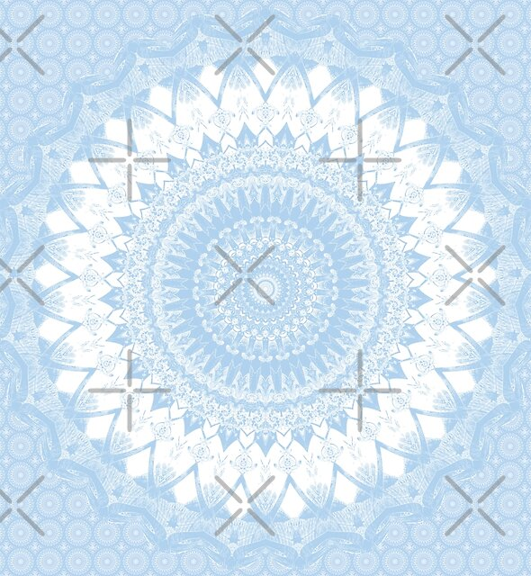 Baby Blue Boho Mandala by Kelly Dietrich
