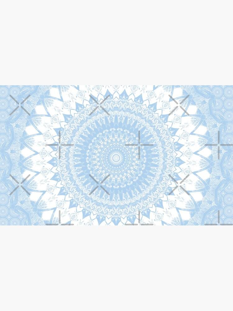 Baby Blue Boho Mandala by kellydietrich