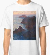 Rocks at Belle-lle, Port-Domois by Claude Monet Classic T-Shirt