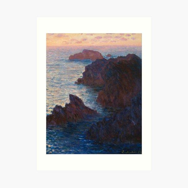 Rocks at Belle-lle, Port-Domois by Claude Monet Art Print