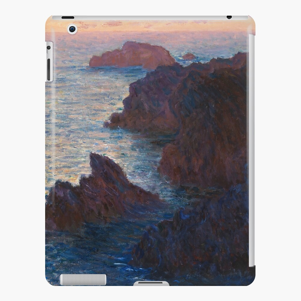 Rocks at Belle-lle, Port-Domois by Claude Monet iPad Case & Skin